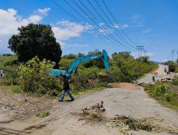 Dinas PU Sigi Pulihkan Jembatan Pombewe Yang Ambruk Akibat Banjir